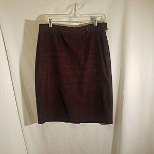 AGNES B - Vintage Brown Corduroy Skirt, size 8